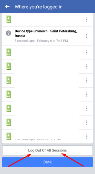 log out of all fb sessions