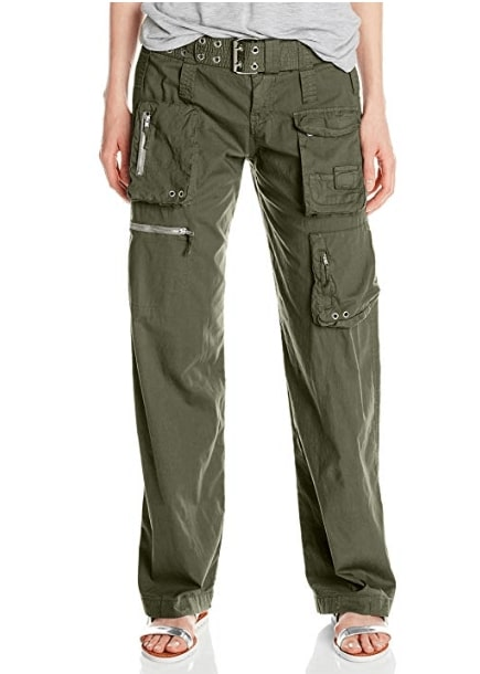 Johnny Was Women's Poplin Cargo Pant with Belt
