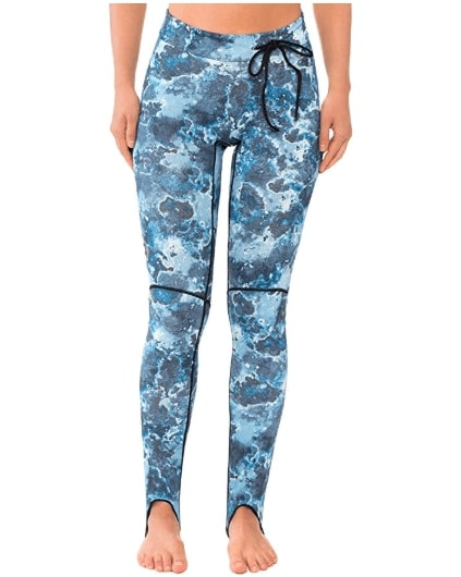 Mares Camo Blue Rash Guard Pants