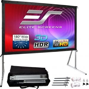 Elite Screens Yard Master 2, 120-inch Outdoor Indoor Projector Screen 16:9, Fast Easy Snap On Set-up Freestanding Portable Movie Foldable Front Projection |...